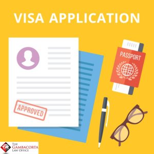 Cartoons of approved visa applications