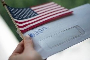 Flag and an envelope