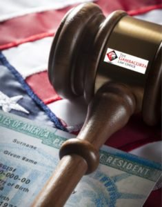 Gavel and green card