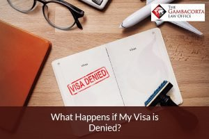 File with a stamp that says Visa Denied